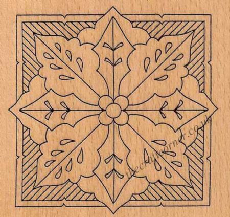 Petite Holly Medallion Wooden Mounted Rubber Stamp from Creative Expressions